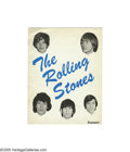 Music Memorabilia:Memorabilia, Rolling Stones 1964 U. K. Tour Book. Eight pages of cool pics andbios with two pages of great early live shots. In very goo...