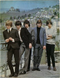 Music Memorabilia:Memorabilia, Rolling Stones 1965 U.K. Tour Book. Twelve-page program includes photos and bios of the Stones and opening acts the Hollies,...