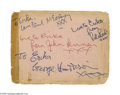 Music Memorabilia:Autographs and Signed Items, Scarce 1961/62 Beatles Signed Album Page with Ringo on Reverse!Terrific vintage album page signatures from the band's origi...