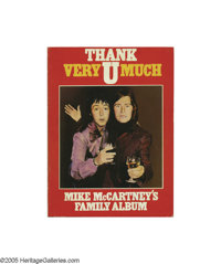 "The Beatles: Paul & Mike McCartney Signed Book - Thank U Very Much (1982). Signed first edition book, ""Thank U..."