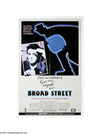 "Paul McCartney Autographed Poster. Featured in this lot is a poster for the movie ""Give My Regards to Broad Street..."