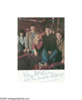 "Music Memorabilia:Photos Signed, Paul McCartney Signed Photograph. A 4 1/2"" x 5"" color photo of Paul McCartney and his Wings-mates, signed and inscribed ""Al... (1 )"