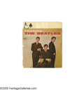 """Music Memorabilia:Ephemera, """"Introducing the Beatles"""" Store Display. Featured is a cardboard section of a promotional display booklet used in wall displ... (1 )"""