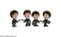 """Music Memorabilia:Memorabilia, Beatles Dolls Group of Four. A complete set of original Beatles dolls manufactured by Remco. Each stands 5"""" tall with rooted... (1 )"""