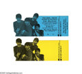 """Music Memorabilia:Tickets, Beatles """"A Hard Days Night"""" Tickets Group of 2. A pair of unused die-cut tickets for the movie """"A Hard Days Night"""", the fir... (2 )"""