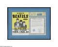 Music Memorabilia:Tickets, Beatles Shea Stadium Concert Handbill and Ticket. Generally regarded by music historians as one of the most most famous outd...