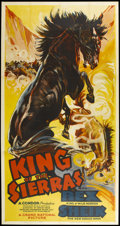 """Movie Posters:Western, King of the Sierras (Grand National, 1938). Three Sheet (41"""" X 81""""). Western...."""