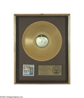 "Music Memorabilia:Awards, Beatles ""Something New"" Gold Record Award. This ""floater""-styleRIAA award reads ""Presented to Capitol Records, Inc. to comm..."