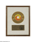 "Music Memorabilia:Awards, Beatles ""Yellow Submarine"" Capitol Gold Record Award. ""Presented toTHE BEATLES to commemorate the sale of more than one mil..."