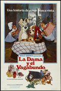 "Movie Posters:Animated, Lady and the Tramp (Buena Vista, R-1980). Spanish Language OneSheet (27"" X 41""). Animated...."