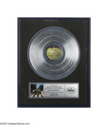 "Music Memorabilia:Awards, Beatles Abbey Road Platinum Record. The last Beatles album to berecorded (although ""Let It Be"" was the last to be released)..."