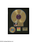 "Music Memorabilia:Awards, Beatles ""Abbey Road"" Gold Record Award. Presented to KATT 100.5 FMDJ Rick Collins to commemorate the sale of more than 500,... (1 )"