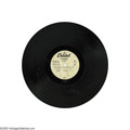 """Music Memorabilia:Recordings, Capitol Records """"Big Hits From England & U.S.A."""" Acetate. Theonly known copy of this acetate of the summer 1964 compilation..."""