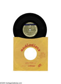 """Music Memorabilia:Recordings, Beatles Early """"Something"""" Demo Acetate. Fantastic early versionwith guitar and piano only, and very different lyrics and ar... (1)"""