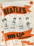 "Music Memorabilia:Posters, Beatles Pin-Up Posters Group of Four. Four 1964 ""Screamers"" pin-upposters -- one for each Beatle -- featuring cartoon caric..."