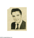 Music Memorabilia:Photos Signed, Elvis Presley Signed Photograph. Elvis Presley may be the singlemost important figure in American 20th century popular musi...