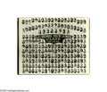 """Music Memorabilia:Photos, Humes High School Class of 1953 Composite Photo. A 14"""" x 11""""black-and-white collage of senior photos from the Humes High Cl...(1 )"""