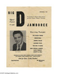 Music Memorabilia:Ephemera, Elvis Radio Concert Program. From a September 3, 1955 performanceat the Dallas Sportatorium. In overall good condition with... (1 )