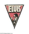 "Music Memorabilia:Memorabilia, Elvis Hilton Pennant. This is a promotional pennant used at one of Elvis' shows at the Las Vegas Hilton, measuring 34"" x 48""..."