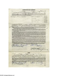 Music Memorabilia:Ephemera, Elvis Signed Conditional Sale Contract (1956). I'm willing to bet this was the last time Elvis ever bought a vehicle on time...
