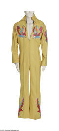 Music Memorabilia:Costumes, Elvis Presley Custom Designed Nudie Jumpsuit (c. 1970s). Fewentertainers in history have ever achieved the status of Elvis....