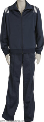 Elvis' Jogging Suit. A blue jogging suit with white stripes previously owned and worn by by Elvis Presley. In great cond...