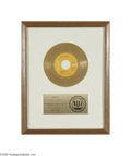 "Music Memorabilia:Awards, Elvis ""In the Ghetto"" Gold Record Single Award. Presented to ChipsMoman to commemorate the sale of more than one million co..."