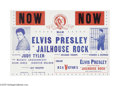 "Music Memorabilia:Photos, Elvis Presley Press Conference Photos and ""Jailhouse Rock"" Poster.Included here are two photos from October 26 and 27, 1957... (1 )"