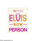 "Music Memorabilia:Posters, Elvis Ad Poster. A 16"" x 20"" advertisement poster for Elvis' performances at the International Hotel in Las Vegas. In very g... (1 )"