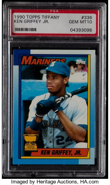1990 Topps Tiffany Ken Griffey Jr 336 Psa Gem Mint 10 Lot