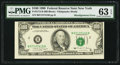 Error Notes:Shifted Third Printing, Fr. 2173-B $100 1990 Federal Reserve Note. PMG Choice Uncirculated 63 EPQ.. ...