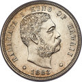 Coins of Hawaii , 1883 10C Hawaii Ten Cents MS64 PCGS. CAC....