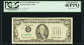 Error Notes:Foldovers, Fr. 2171-B $100 1985 Federal Reserve Note. PCGS Extremely Fine40PPQ.. ...