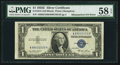 Fr. 1614 $1 1935E Silver Certificate. PMG Choice About Unc 58 EPQ