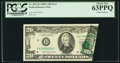 Error Notes:Foldovers, Fr. 2076-D $20 1988A Federal Reserve Note. PCGS Choice New 63PPQ.....