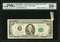 Error Notes:Foldovers, Fr. 2170-B $100 1981A Federal Reserve Note. PMG Choice About Unc 58EPQ.. ...