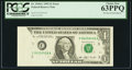Error Notes:Foldovers, Fr. 1918-C $1 1993 Federal Reserve Note. PCGS Choice New 63PPQ.....