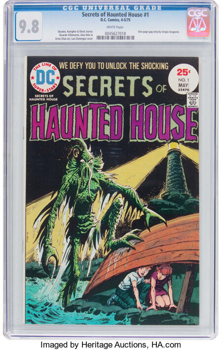 Secrets of Haunted House #1 (DC, 1975) CGC NM/MT 9.8 White pages....