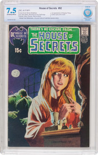 House of Secrets #92 (DC, 1971) CBCS VF- 7.5 Off-white to white pages
