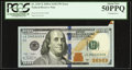 Error Notes:Attached Tabs, Fr. 2187-E $100 2009A Federal Reserve Note. PCGS About New 50PPQ.....