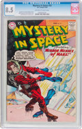 Silver Age (1956-1969):Science Fiction, Mystery in Space #52 (DC, 1959) CGC VF+ 8.5 Off-white to white pages....