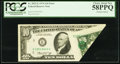 Error Notes:Foldovers, Fr. 2022-E $10 1974 Federal Reserve Note. PCGS Choice About New58PPQ.. ...
