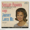 "Music Memorabilia:Recordings, Shelley Fabares ""Johnny Loves Me"" 45 and Picture Sleeve Colpix 636 (1962). Shelley's follow-up to her #1 hit ""Johnny Angel,""... (1 )"