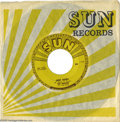 """Music Memorabilia:Recordings, Roy Orbison """"Ooby Dooby"""" 45 Sun 242 (1956). Orbison's first singleon the Sun Records label, released in 1956, at the beginn... (1 )"""
