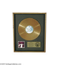 "Music Memorabilia:Awards, George Benson ""Weekend In L.A."" Gold Record Award. Presented toMario Maglieri to commemorate the gold record status of Bens..."
