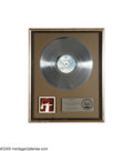 "Music Memorabilia:Awards, George Benson ""Weekend in L.A."" Platinum Record Award. Presented toMario Maglieri to commemorate the sale of more than 1,00..."