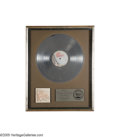 "Music Memorabilia:Awards, ""Chicago XI"" Platinum Record Award. Presented to L.A. Uptown MusicCorp. to commemorate the sale of more than 1,000,000 copi..."