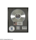 Music Memorabilia:Awards, Alice Cooper Platinum Sales Award. Presented to Tom Johnson, thisaward is adorned with a CD, cassette, and LP honoring the ...