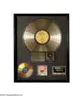 "Music Memorabilia:Awards, Jimi Hendrix Experience ""Axis: Bold As Love"" Gold Sales Award. Thisparticular RIAA gold album award posthumously presented ..."