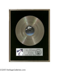 "Music Memorabilia:Awards, Michael Jackson ""Thriller"" Platinum Record Award. Presented to KEGL97.1 FM DJ Randy Brown to commemorate the sale of more t... (1 )"